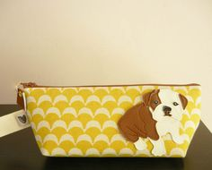Boris the Bulldog Yellow Vintage Scallop Case. Starting at $15 on Tophatter.com! Auction starts at 4PM PT on March 9th!