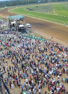 Over fans on Opening Weekend at Lone Star Park Book Bar, Grand Prairie, Opening Weekend, Thoroughbred Horse, Horse Racing, Baseball Field, Four Square, Universe, Fans