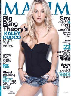 Kaley Cuoco, Watch Big Bang Theory, The Big Band Theory, Maxim Magazine Covers, Maxim Cover, Pin Up, Beautiful Celebrities, Beautiful Women, Beautiful Gorgeous