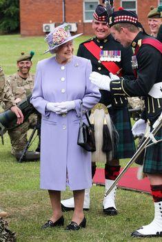 Queen Elizabeth II - Queen Elizabeth II Inspects the Royal Regiment