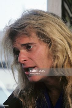 American songwriter, actor, author, radio personality and lead vocalist of rock group Van Halen David Lee Roth at a photo shoot on May 23, 1981 in Dayton, OH.