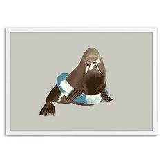 Framed Print - Walrus in a Float #westelm