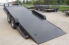 Tilt Bed Trailers - We can special order any size trailer to fit your needs! Tilt Trailer, Car Hauler Trailer, Free Trailer, Off Road Trailer, Trailer Plans, Trailer Hitch, Trailer Light Wiring, Trailer Wiring Diagram, Tow Truck