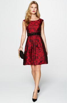Huvudbild - Eliza J förbättrade Waist Brocade Fit & Flare Dress