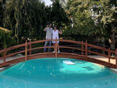 Pool Bridge, Bridges, Decks, Outdoor Decor, Wedding, Home Decor, Valentines Day Weddings, Decoration Home, Room Decor
