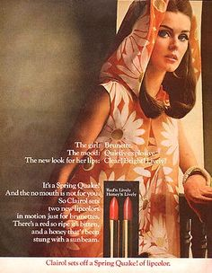 Clairol 'Spring Quake' Lipstick Ad, 1967