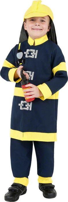 Disfraz de bombero para niño. Disponible en www.vegaoo.es