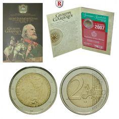San Marino, 2 Euro 2007, prfr.: 2 Euro 2007. Giuseppe Garibaldi. prägefrisch 35,00€ #coins #numismatics