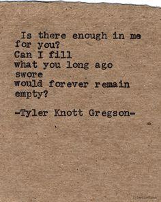 Typewriter Series #643byTyler Knott Gregson