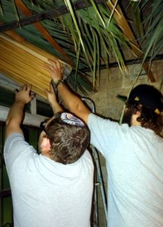 Putting up the Sukkah at Heritage House.