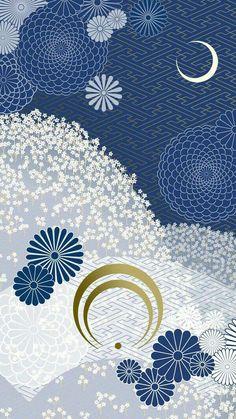 Japanese Patterns, Japanese Fabric, Japanese Design, Japanese Art, Touken Ranbu Mikazuki, Anime Lock Screen, Origami Paper, Pattern Wallpaper, Asian Art