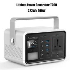 Power Generator, Digital Alarm Clock, Solar, Usb, Camping, China, Display, Home Decor, Campsite