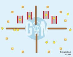 4 vakken fit - Proberen zoveel mogelijk punten te scoren in een vooraf bepaalde tijd.