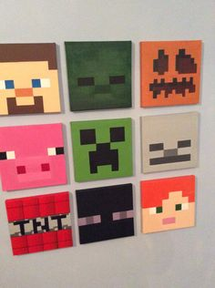 see listing below to purchase all 9 for £70 https://www.etsy.com/uk/listing/251814166/minecraft-9-piece-set?ref=related-0   Each Minecraft canvas is