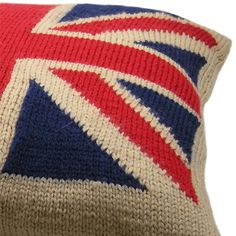 This Union Jack cushion is an example of Intarsia Knitting