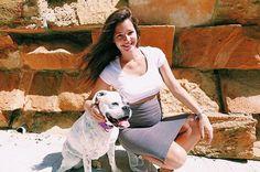 Malena Costa with Bcn Brand! #fashionbrand #sneakers #model #dog #malenacosta