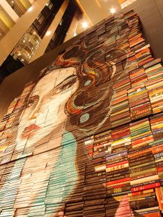 Face painted on book jackets