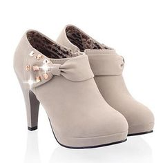 Elegant Bow and Rhinestones Design Women's Ankle Boots