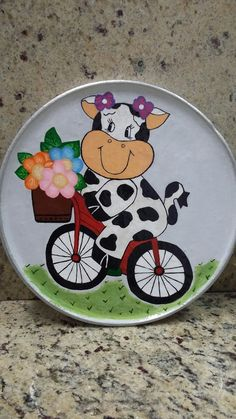 ceramic plate made and painted by Maria Cecilia