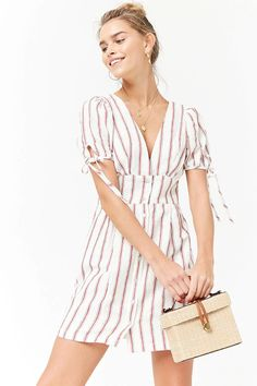 Product Name:Plunging Striped Dress, Category:dress, Price:24.9