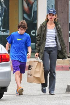 Calista Flockhart and her son Liam, 12, went shopping for new sneakers at FrontRunners in Brentwood, Calif. on Tuesday (June 25).