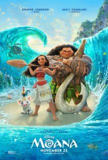 4/5 ✦ - Watched 22 Nov 2016. Disney has been on a real roll lately, and Moana just ups the bar. The animation is beautiful, the songs are fantastic, and the whole thing just really flows solidly from start to finish.
