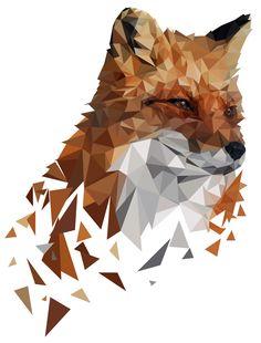 Geometric Fox on Behance