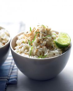 Sesame-Lime Rice - Martha Stewart --- to go with Kalua pork?