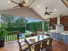 Outdoor living design with balcony from a real Australian home - Outdoor Living…