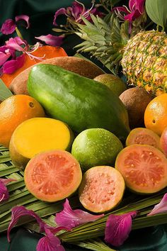 Tropical fruits at their finest.