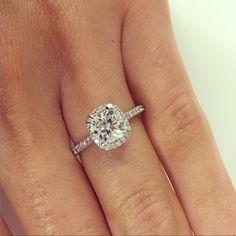 Cushion Cut Halo Engagement Ring  #diamondsinternational #brisbane #loveDI #marryme #diamond #engagement #ring