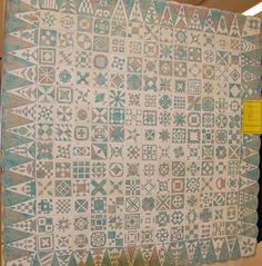 Dear Jane in pastel batik + cream. Spotted at a 2009 quilt show. Photo by Barb Vedder at Fun With Barb
