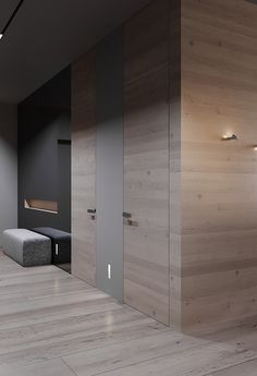 Project HD on Behance Modern Home Interior Design, Modern Bedroom Design, Modern Minimalist, Minimalist Design, Wall Cladding Designs, Hallway Designs, Apartment Projects, Architecture Plan, Luxury Apartments