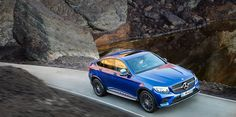 The new Mercedes-Benz GLC Coupé on the road.