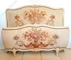 Beautiful French Upholstered Bed - Antiques Atlas
