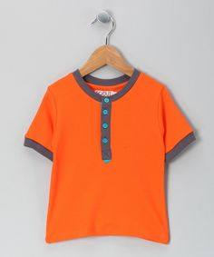 Orange Discover #Organic Henley by Scout Collection on #zulily