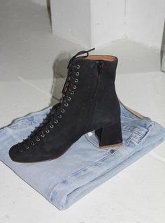 By Far Becca Boot, Black Suede