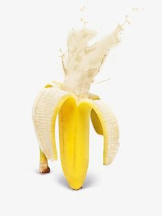 kitsch banana art photo wall poster Fruity Explosions by Design Cartel Banana Art, Banana Milk, Buda Wallpaper, Jugo Natural, Photoshop, Mellow Yellow, Creative Photography, Life Photography, Creative Food