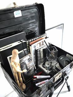 Workspace inspiration | Little black suitcase crush