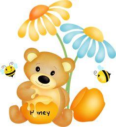 "Photo from album ""Bee Happy"" on Yandex. Cartoon Template, Bee Free, Honey Bee Hives, Bear Images, Bear Graphic, Paper Cut Design, Bear Illustration, Fantasy Art Landscapes, Honey Bear"