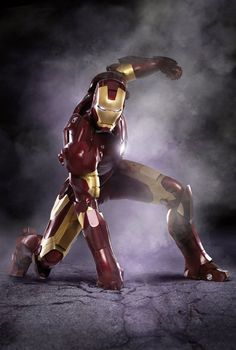 Iron Man. I've got a drawing of this I made somewhere (: