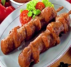 Tasty homemade siti stick like from the fries tent. Dutch Recipes, Low Carb Recipes, Vegan Recipes, Lunch Snacks, Tapas, Boston Baked Beans, How To Cook Pork, Vegetable Drinks, Healthy Eating Tips