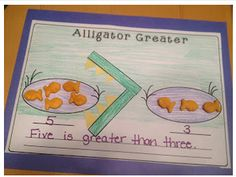 Kindergarten -greater than and Less Than.  M.1.17 which one is more visually, tactilely, auditorilly.  M.5.22 Identify similarities and differences.