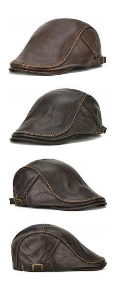 f3ca91d1c25 Mens Casual Beret Hat  Windproof Warm Forward Cap  outdoors  outfits  men  Mens