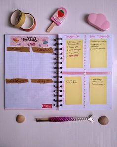 começou o #BulletJournal2020 Então segue como está ficando o meu para te inspirar. planejamento tarefas e metas. planejamento anual. #planner organização de tarefas Bullet Journal, Planner, Notebook, Daily Planning, Yearly, Goals, Notebooks, Scrapbooking