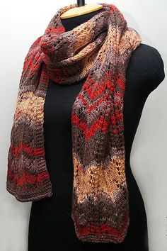 Knitted red scarf, long knitted scarf, woman knitted scarf, woman cable scarf, red-brown color, knitted wrap by SanniKnitting on Etsy