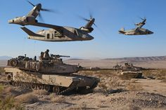 Bell V-280 Army with tanks