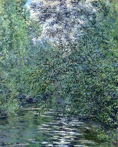 Claude Monet, The Willows on the River, 1876 on ArtStack #claude-monet #art