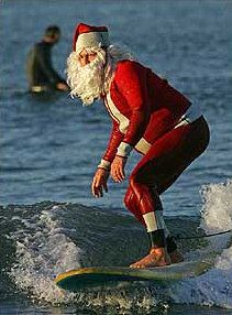 Father Christmas Waterskiing
