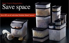 Love Love Love these!!  Save time, space, taste, and waste by organizing your pantry with these airtight Tupperware containers!!  They are awesome.